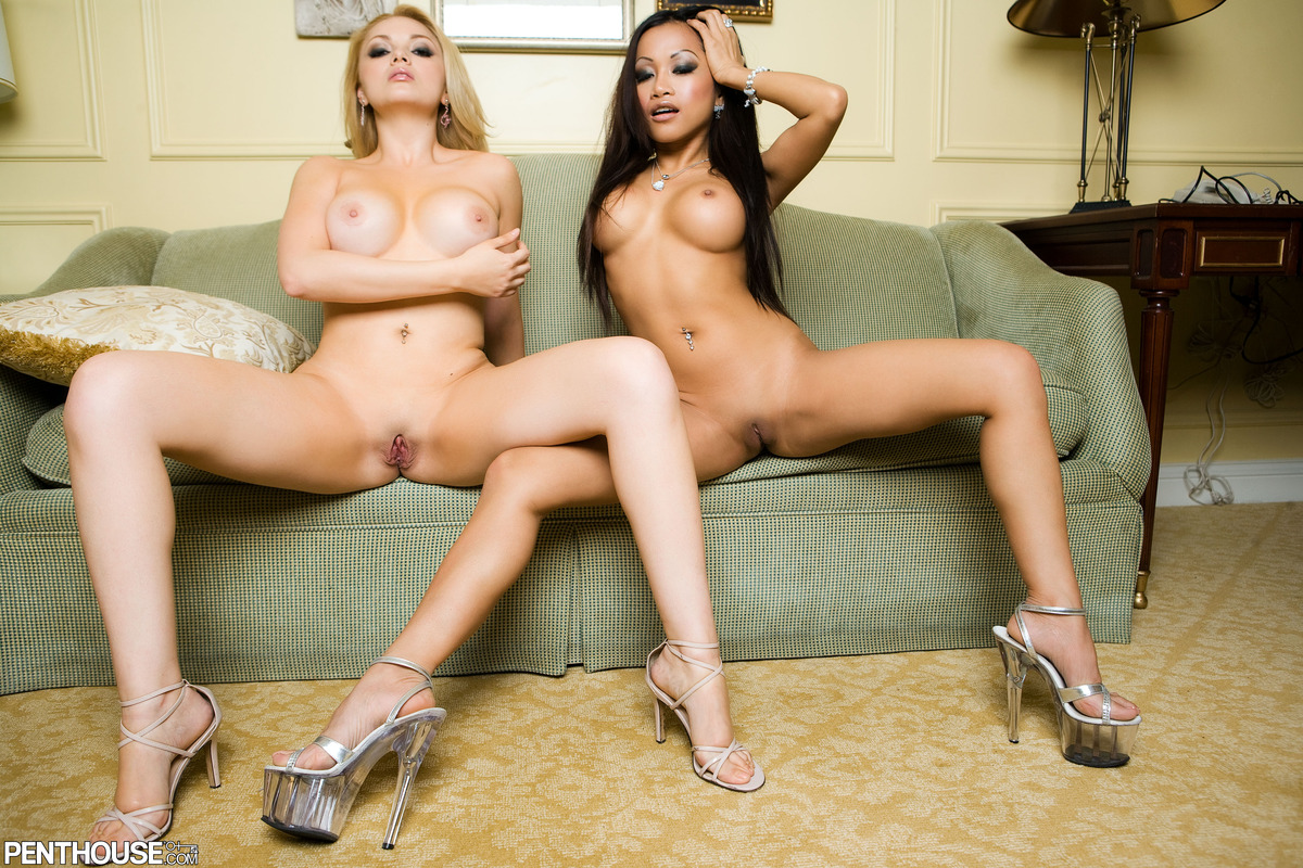 The amusing lesbians naked in high heels likely