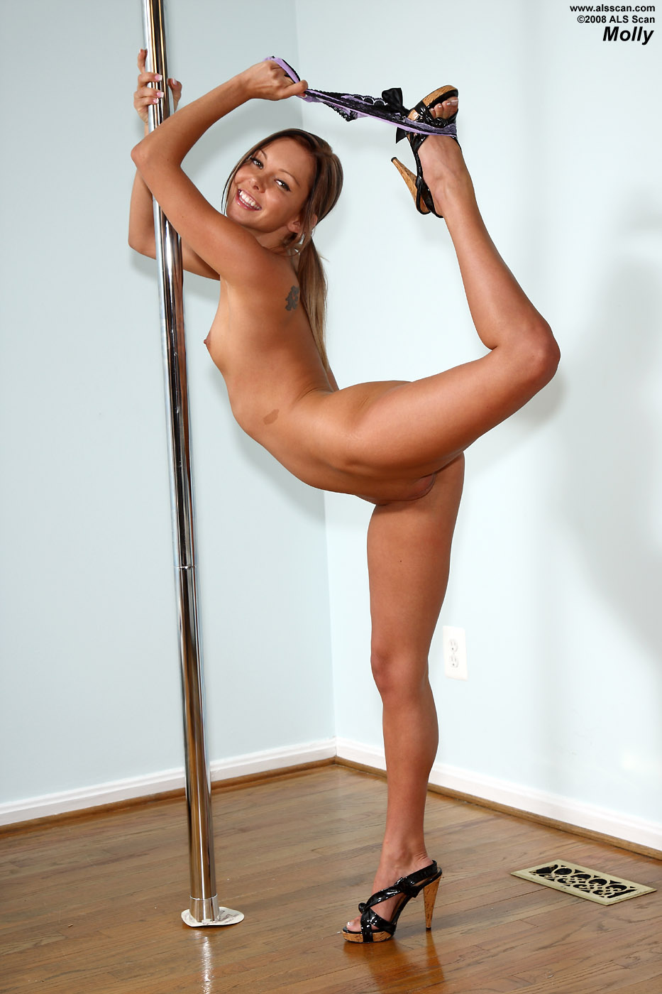 Words... Sexy nude pole dance that would