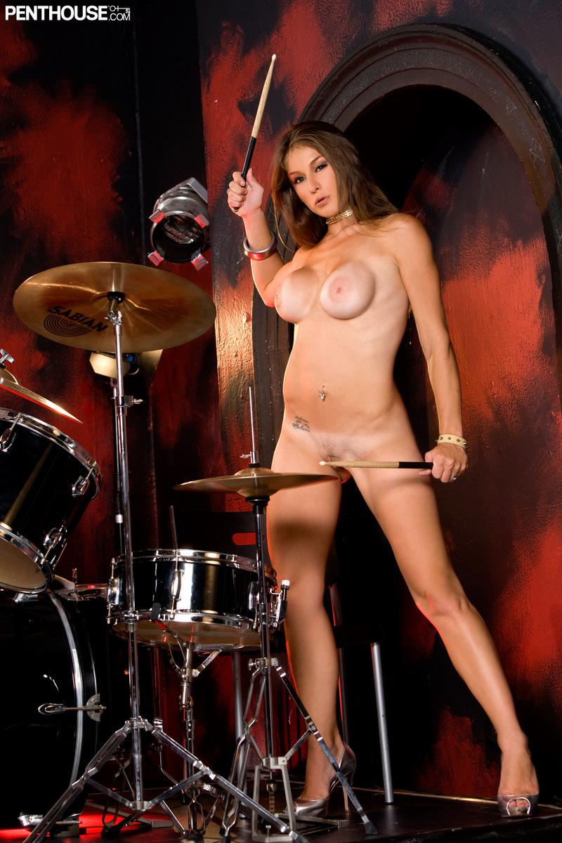 nude drummer